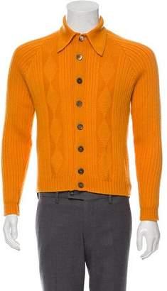 Prada Virgin Wool Button-Up Sweater