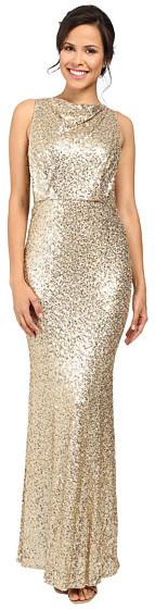 Badgley MischkaBadgley Mischka Sequin Blouson Gown