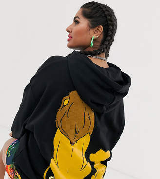 Asos Disney The Lion King x DESIGN Curve oversized hoodie with Simba and Mufasa back print