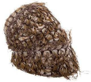 Maison Michel Feathered Dome Hat