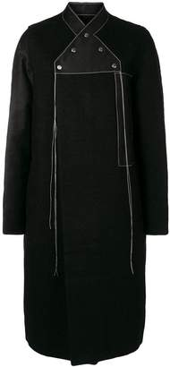 Rick Owens double-breasted neckline coat