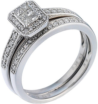 Perfect Fit Platinum 1/2ct Diamond Bridal Ring Set
