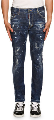 Dsquared2 Cool Guy American Pie Jeans, Blue $560 thestylecure.com