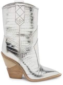 Fendi Metallic Cowboy Boots