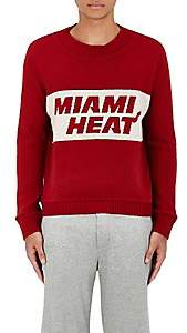 "The Elder Statesman X NBA X NBA MEN'S ""MIAMI HEAT"" CASHMERE SWEATER-RED SIZE M"