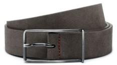 HUGO Italian-suede belt with extended buckle