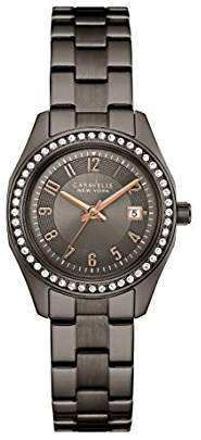 Bulova Women's Quartz Stainless Steel Casual Watch, Color:Grey (Model: 45M110) $120 thestylecure.com