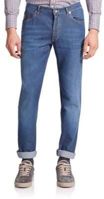 Brunello Cucinelli Lightweight Skinny-Leg Jeans