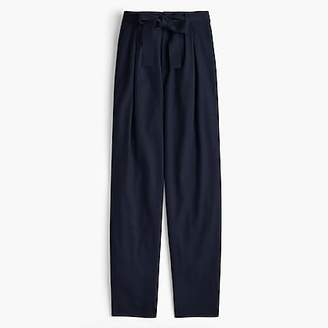 Collection tie-waist pant in Italian flannel