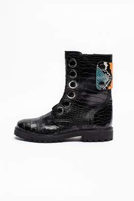 Zadig & Voltaire Joe Crok Patch Boots