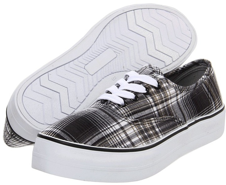 BC Footwear Double Down (Black Plaid) - Footwear