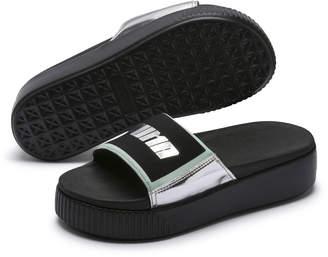 Platform Trailblazer Metallic Womens Slide Sandals