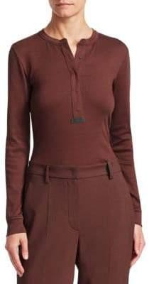 Brunello Cucinelli Jersey Henley Shirt