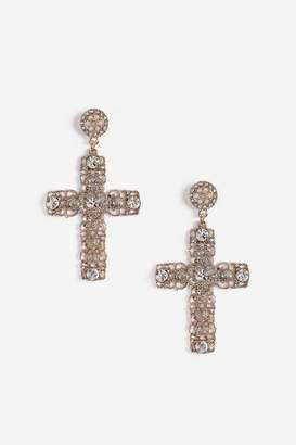 Topshop Cross Drop Earrings