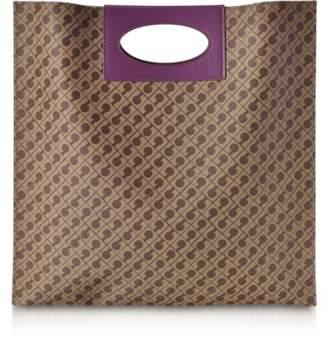 Gherardini Millerighe Mystic Purple Signature Flat Tote Bag