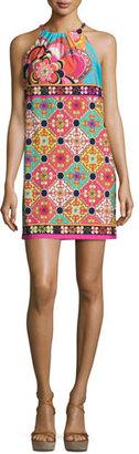 Trina Turk Vacaciones Sleeveless Tile Mini Dress, Multicolor $228 thestylecure.com