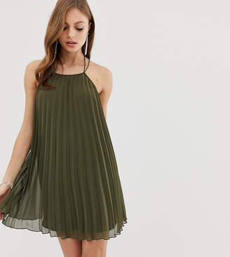 Asos Design DESIGN mini trapeze pleat dress