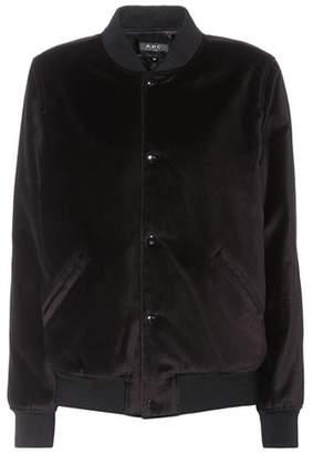 A.P.C. Afternoon velvet varsity jacket