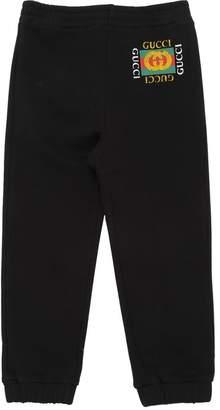 Gucci Logo Print Cotton Sweatpants