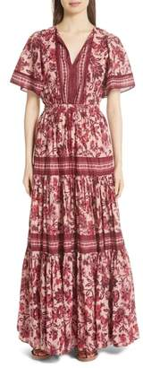 KATE SPADE NEW YORK paisley blossom maxi dress