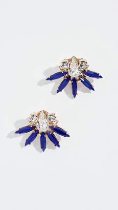 Anton Heunis Crystal Flower Earrings