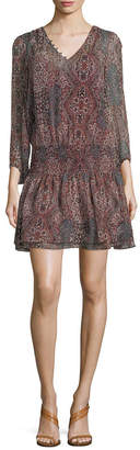 Ella Moss Printed Silk Dress