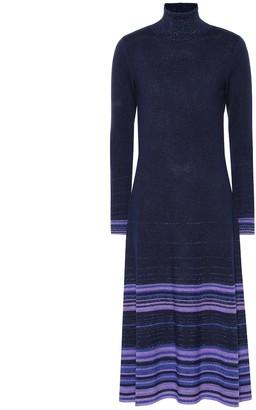 Agnona Striped cashmere-blend dress