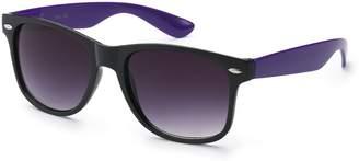 Moda RETRO Trendy Classic 80s Style 2 Color Frame Unisex Sunglasses /PURPLE