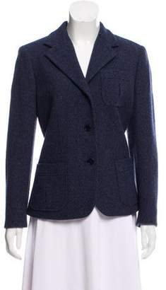 Lauren Ralph Lauren Wool Notched-Lapel Blazer