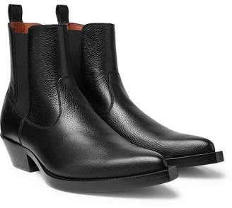 Givenchy Texas Full-Grain Leather Chelsea Boots - Men - Black