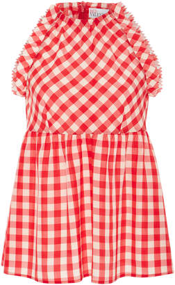 RED Valentino Gingham Halter Neck Top