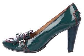 Tod's Round-Toe Patent Leather Pumps