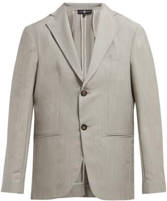 Edward Crutchley - Single Breasted Wool Blazer - Womens - Light Grey 2d06167aef20