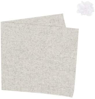 Original Penguin Textured Solid Pocket Square & Lapel Pin Set