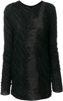 Uma Wang back accordion detail blouse