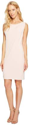 Jessica Simpson Sleeveless Ity Dress with Front Drape Women's Dress