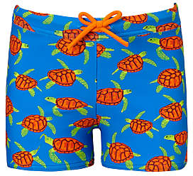 John Lewis & Partners Boys' Turtle Print Swimming Trunks, Blue