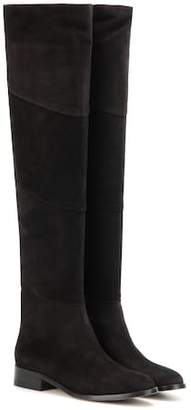 Jimmy Choo Miller Flat suede over-the-knee boots