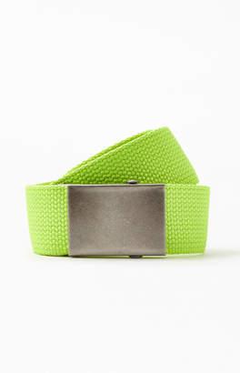 PacSun Neon Yellow Webbed Belt