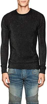 Balmain Men's Metallic Rib-Knit Sweater