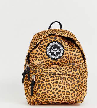 Hype leopard print mini backpack