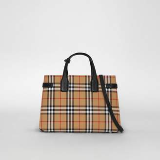 Burberry The Medium Banner in Vintage Check and Leather