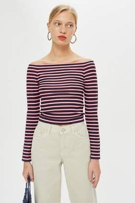 Topshop Multi Stripe Bardot