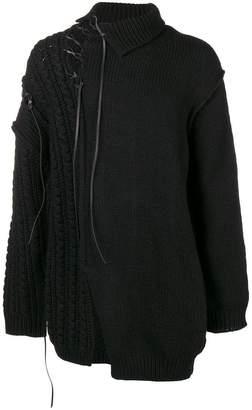 Yohji Yamamoto asymmetric knit jumper