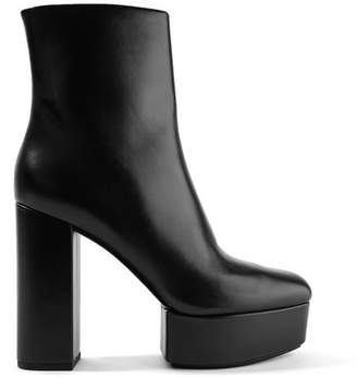Alexander Wang Cora Leather Platform Ankle Boots - Black