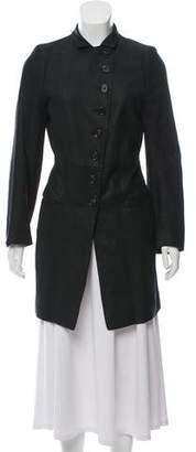 Ann Demeulemeester Suede Peak-Lapel Jacket