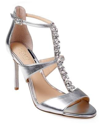 4ce7b251f3e Badgley Mischka Silver Strappy Women s Sandals - ShopStyle