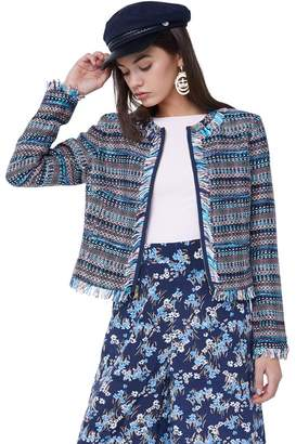 Juicy Couture Multi-Fringe Woven Jacket