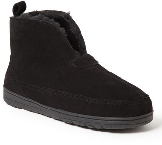 Dearfoams Men's Genuine Suede Notched Boot