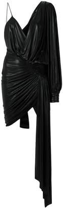 Alexandre Vauthier one shoulder drape front dress